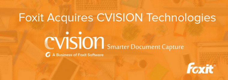 Foxit Acquires CVISION PDF Compression
