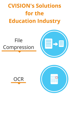 Utilize OCR and PDF Compression software solution in the education industry to make PDF searchable and to reduce PDF size.