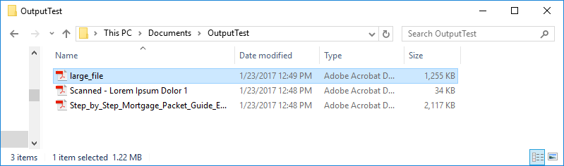 Output Folder with Compressed Files