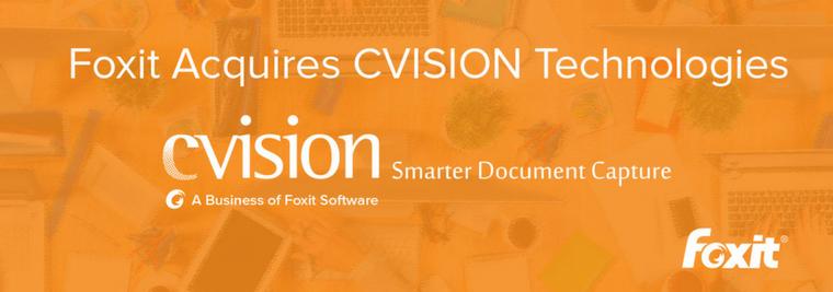 Foxit Acquires CVISION PDF Compression