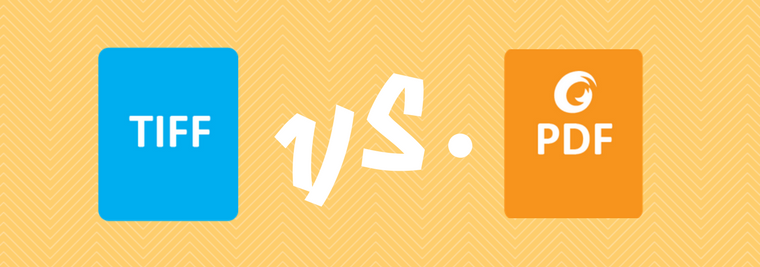 TIFF format versus PDF that's capable of OCR, archiving and document security.